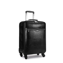 "TRAVEL TALE 16""20""22 leather travel suitcase koffers trolleys luggage bag for men(China)"