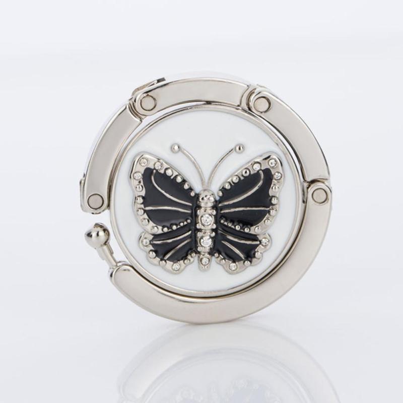 1 шт. прекрасный Цвет бабочка Дизайн Сумочка складная сумка крючок вешалка держатель для подарка Жук замок Bling A4(China)