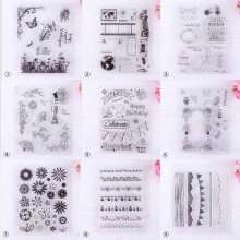 Artistic Graffiti Flower Pattern Transparent Rubber Stamp Seal DIY Album Craft Scrapbooking Decoration#230707