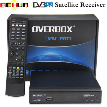 OVERBOX M9S PRO DVB-S2 Satellite Receiver Receptor Support PowerVu Biss Key newcam Youtube HDMI 1080P HD Digita Media Player