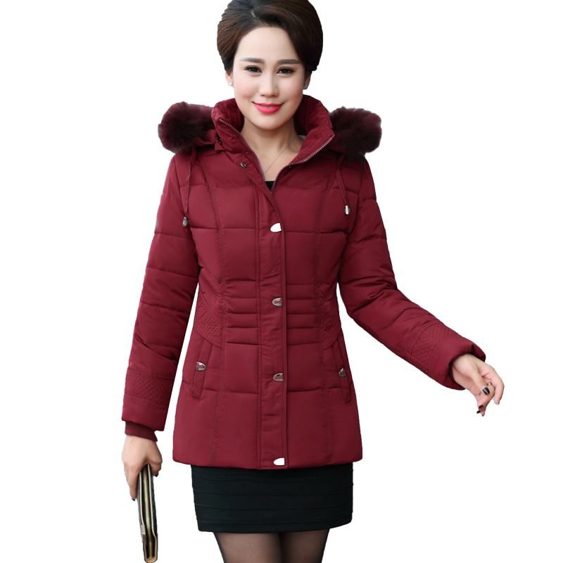 NEW winter Mother fitted down jacket women cotton short Korean casual wild CoatОдежда и ак�е��уары<br><br><br>Aliexpress