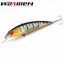 1Pcs 11cm 13.4g Floating Minnow Fishing Lure Laser Hard Artificial Bait 3D Eyes  Fishing Wobblers Crankbait Minnows YR-219