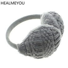 2017 New Style Winter Earmuffs For Women Warm Unisex Ear Muffs Winter Ear Cover Knitted Plush Winter Ear Warmers Free Shipping