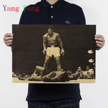 2017 Sale Special Offer for Wall Home Decoration Wall Stickers Ko From The Boxing Ali Vintage Poster Wall Decor Retro Store Bar