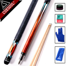 "CUESOUL 58"" Professional 1/2 Jointed Billiard Pool Cues Stick 11.5mm/12.75mm Tip 147cm For Black 8 Nine Ball(China)"