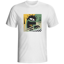 Play Your Piano T Shirt Abstract Modern Music Artwork Brand Style Novelty T-shirt Skate Hip Hop Funny Unisex Tee(China)