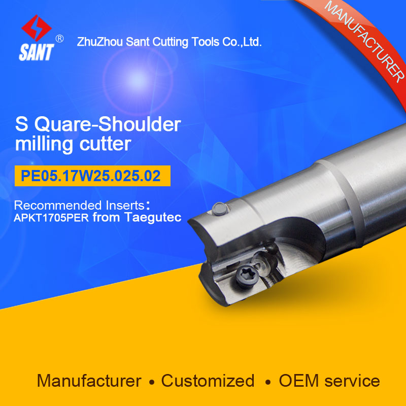 Customized size Square Should Milling Cutter Kr 90 PE05.17W25.025.02, with APKT1705PER insert<br>