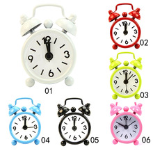 Fashion New Home Outdoor Portable Lovely Cute Cartoon Dial Number Round Desk Alarm Mini Clock(China)