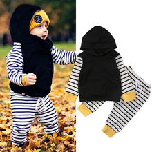 0-18M hooded Winter baby girls Clothes 2PCS newborn Cotton baby boy baby girl clothes set soft underwear baby girls pajamas