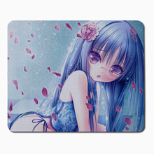 Beautiful blue haired girl Mouse Pad Computer Mousepad Boys gifts Gaming Mouse Mats To Mouse Gamer Anime Rectangular Mouse Pad