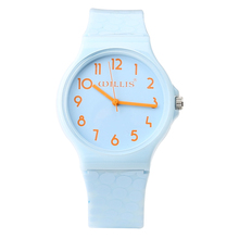Brand New Fashion Simple Waterproof Candy Colorful Water Resistant Sports Jelly Watch For Mini Woman Girls Students Wrist Watch(China)