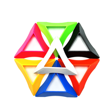 5Pcs/ Set Multicolor High Quality Compact Plastic Speed Magic Cubes Base Holder Frame Baby Kids Educational Toys Game Gifts(China)