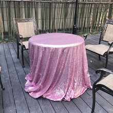 120*180cm Wedding Sequin Tablecloth Rectangle Solid Color Table Cover for Event Party Banquet Polyester Fabric Home Products(China)