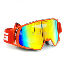 New RED Motorcycle Goggles Glasses Motocross googles Bike Cross Country Flexible Goggles Tinted UV