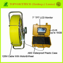 120m Color CCD Pipe Wall Sewer Inspection Camera System,endoscope camera system,waterproof Sewer detection camera