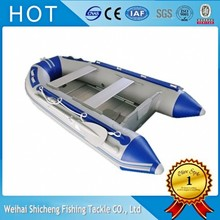 Best selling inflatable boat for fishing,OEM production aluminium floor rubber boats(China)