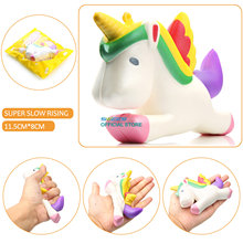 High Quality Original Kawaii Unicorn Squishy Jumbo Slow Rising Cute Phone Straps Pendant Soft Squeeze Bread Cake Kids Toys Gift