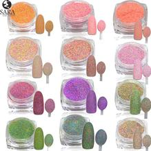 1.5g 3D Pigments Sequins Nail Sugar Glitter Dust Powder Polish Gel Girl Color Dazzling Nail DIY Pearl Tips Deco SA513-524(China)