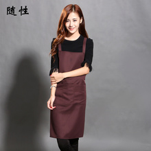 Fashion Restaurant Coffee Manicure Shop Waitress In The Hotel Kitchen Waterproof Apron Customized Advertising Logo Shipping