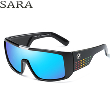 SARA Brand Oversized Shield Dragon Sunglasses Men Polycarbonate Lens Steampunk Goggles Surfing Glasses Fishing Eyewear SA2030 CE(China)