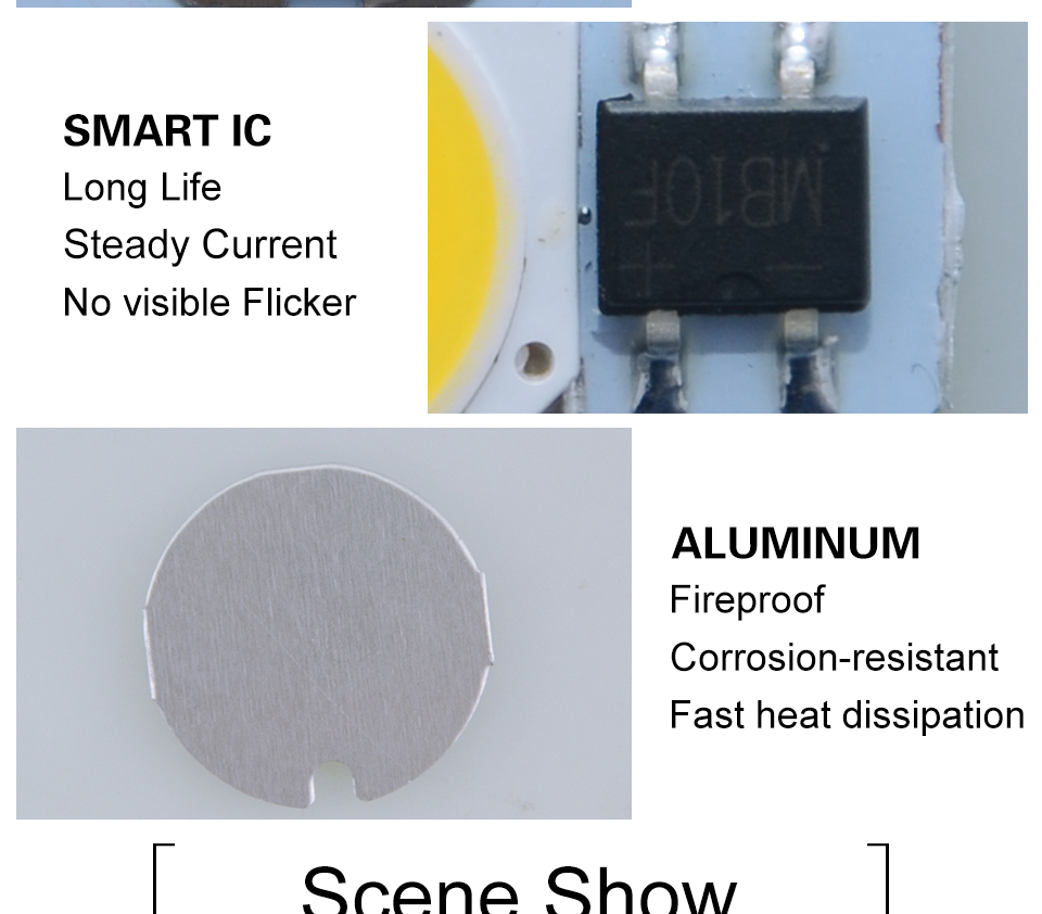 led cob lamp bulb white warm white 220v 110V with smart ic driver (9)