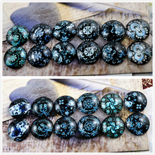12pcs/lot (One Set) Two Style 12mm Night Totem Handmade Glass Cabochons Pattern Domed Jewelry Accessories Supplies(China)