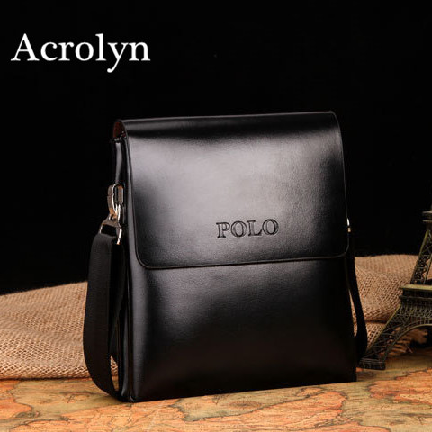 2017 Genuine Leather Men Messenger Bag Double Pocket Small Shoulder Bags Free Shipping<br><br>Aliexpress