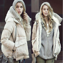 2016 Hot Sale Women Casual Slim Short Down Coat Jacket With Fur Parka Winter Jacket Thicken Down Outwear