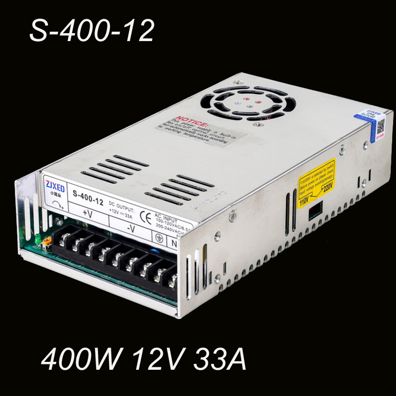 S-400W-12V 33A 400W Single Output Switching Power Supply for LED SMPS AC to DC<br>