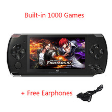 CoolBaby X6 Handheld Game Player 4.3 inch 8GB Portable MP4 Video Game Console 32Bit Built-In 1000 Childhood Games TV Output(China)