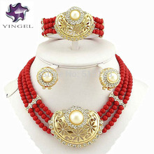pearls bridal jewelry set women bead necklace african big  jewelry sets wedding  jewelry bead jewelry beads & jewelry making