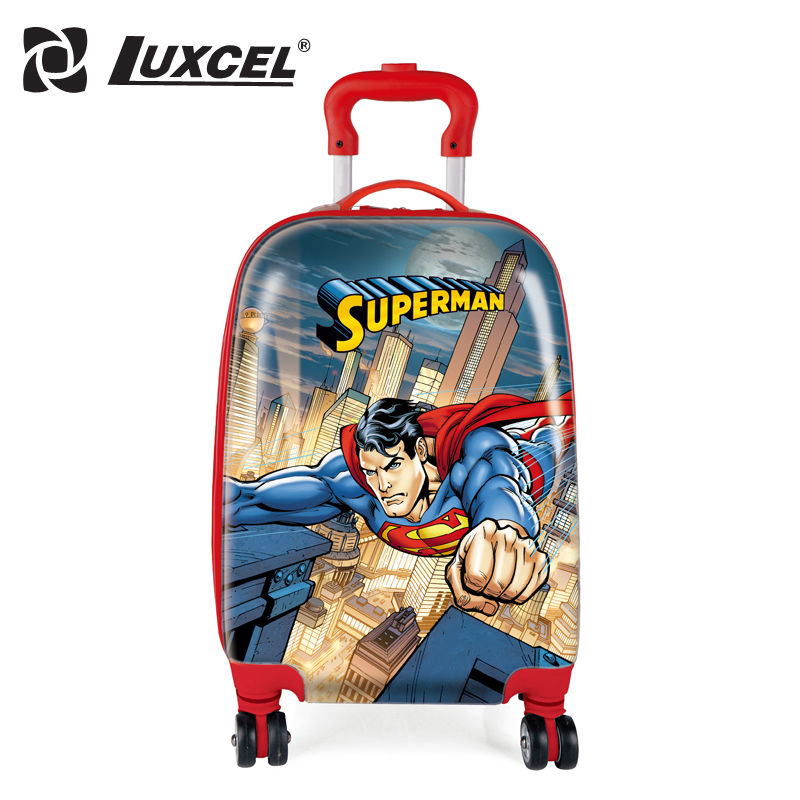 Luxcel PC Travel case for Boy and Girl  Travel Suitcases with 3D cartoon Image Rolling Luggage Brazil Domestic Delivery<br><br>Aliexpress