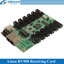 Linsn studio RV908 LED Display control system Receiving Card Support Static, 1/2, 1/4, 1/8, 1/16, 1/32 Scan(China)