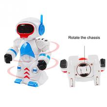Electric Robot Rotates Light Music Intelligent Robot 360 Rotating Dancing Robot(China)