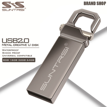 Suntrsi Metal USB Flash Drive 64GB USB 2.0 Pendrive High Speed Pen Drive 32GB USB Stick Real Capacity Flash Drive Free Shipping