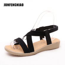 Women Shoes Sandals Comfort Sandals Summer Flip Flops 2017 Fashion High Quality Flat Sandals Gladiator Sandalias Mujer KL-2618(China)