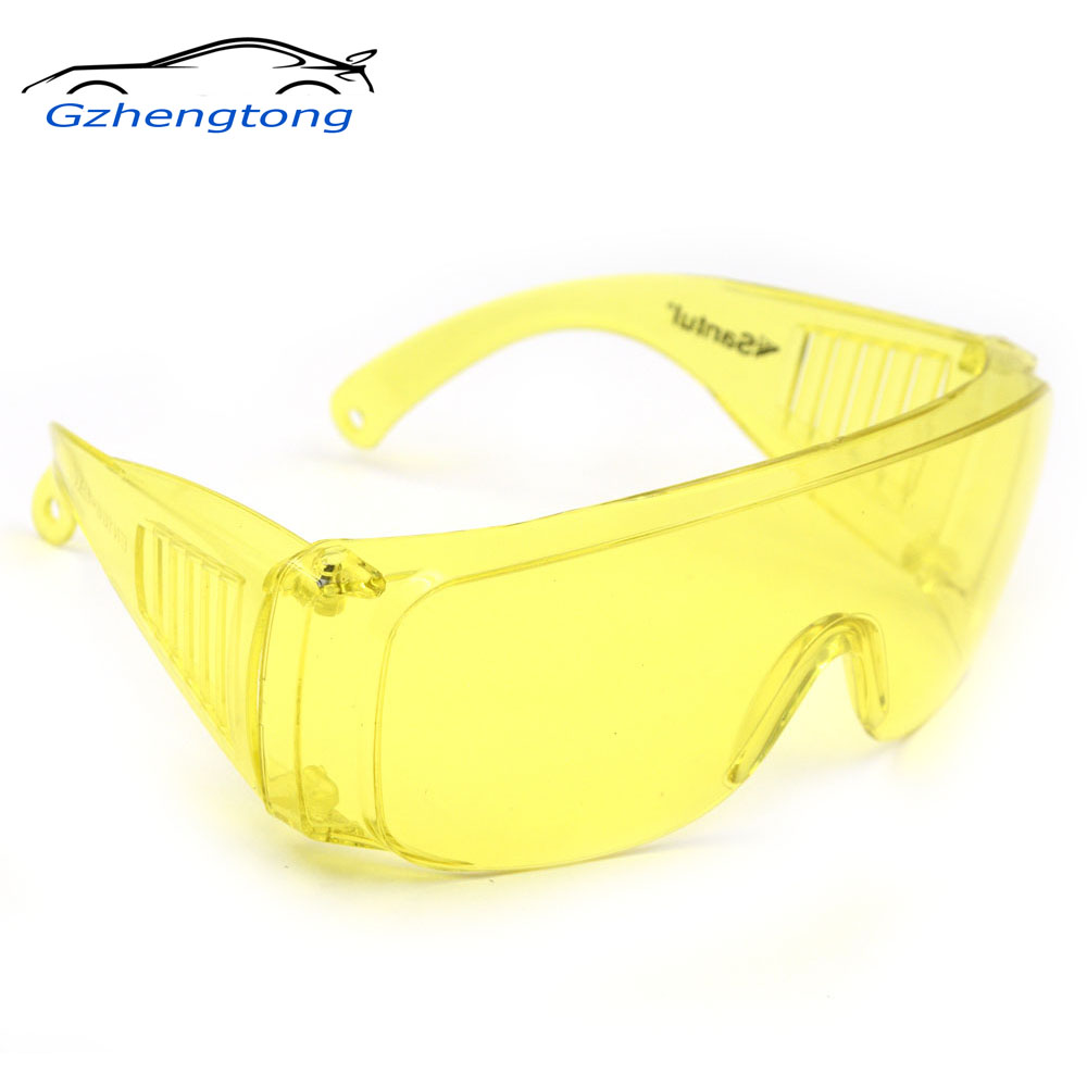 Gzhengtong 1Pcs Yellow Automotive Air Conditioning Leak Detector Glass/UV Protection Adjustable Safety Glasses UV 400(China)