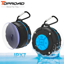 TOPROAD Waterproof Outdoor Bluetooth Speaker Portable Wireless Subwoofer Loudspeaker Shower Bicycle Speakers with Suction Cup(China)