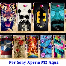 AKABEILA Soft TPU Hard Plastic Cell Phone Cover For Sony Xperia M2 S50H D2303 D2305 D2306 dual D2302 Case Cover Shell Skin(China)