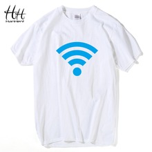 HanHent 2016 Casual Men FREE WiFi Printed T Shirt Summer Style T-shirt Tops Boy Cool Clothing Paired T-shirts For Lovers TA0687(China)
