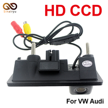 Special Trunk handle CCD Car Rear View Camera Reverse Backup Camera For Audi A4 S4 A6 Waterproof Auto Parking Camera