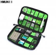 HMUNII Electronic Accessories Travel Bag Oxford cloth Mens Travel Organizer For Date Line SD Card USB Cable Digital Device Bag