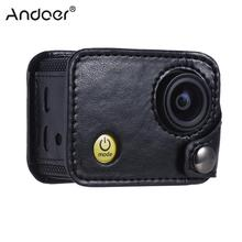 Andoer Clip-on Sports Camera Bag Protecive Carrying Hanging Case Video Bag with Neck Lanyard & Lens Cap for Andoer Q3H / Q3