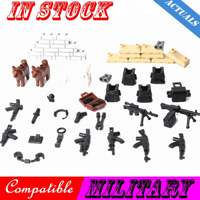 Military City Special Forces Soldiers Bricks Figures Guns Weapons Armed SWAT Building Blocks Ww2 Toys Compatible Military Cities