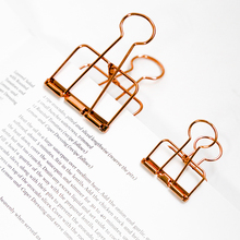 1 Pcs Cute Kawaii Photo Decorative Metal Quality Binder Paper Clips Desk Office Accessories School Supplies Gold Black Rose(China)