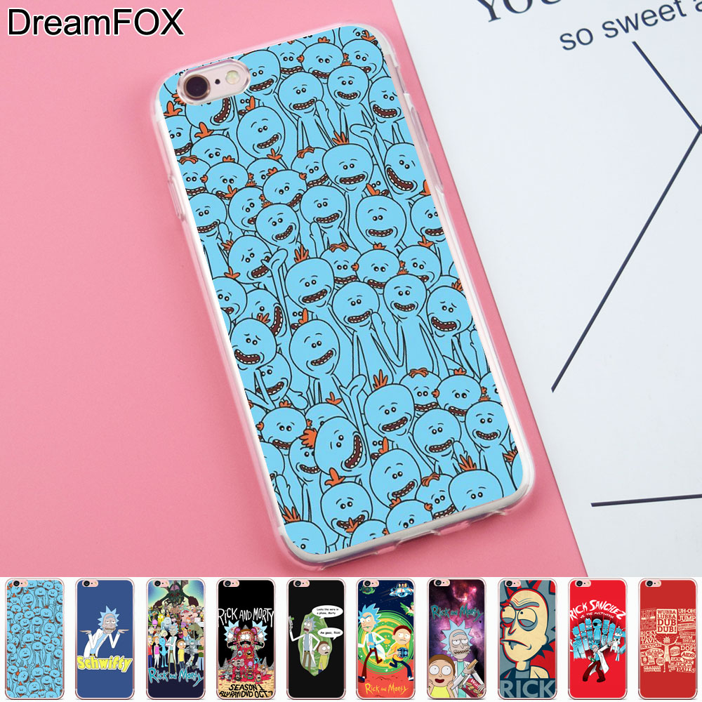 DREAMFOX K172 Rick Morty Schwifty Soft TPU Silicone Case Cover Apple iPhone 8 X 7 6 6S Plus 5 5S SE 5C 4 4S