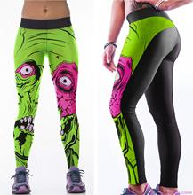Plants vs Zombies Yoga Pants Green Women Sports Running Trousers Pink Gym Fitness Dance Leggings Workout Jogging Sportswear New(China)