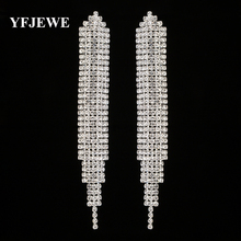 Buy YFJEWE Top New Crystal Elegant Jewelry Summer Style Pendant Earrings Women Gold Silver Plated Wedding Accessories E449 for $2.32 in AliExpress store