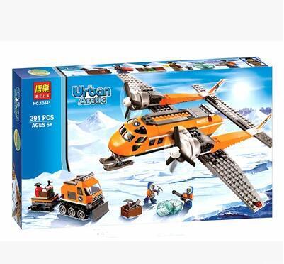 lepin/bela/LP GO City Arctic Supply Plane minifigura sets Building Blocks Figures original brinquedos Toys for children 60064<br><br>Aliexpress