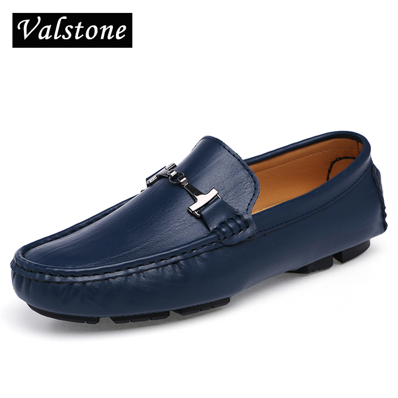 Men Driving Shoes casual Fashion Foldable ballet shoes Quality Loafers Light flats Genuine leather shoes mocassins size 48 Navy<br>